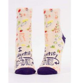 Blue Q Ladies Ankle Socks-I Identify As Me