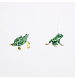 180 Degrees Frog & Turtle Ornaments