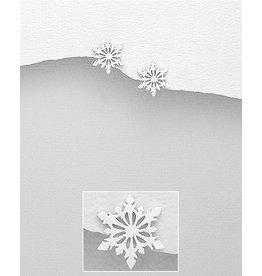 Sterling Studs:  Sterling Snowflake