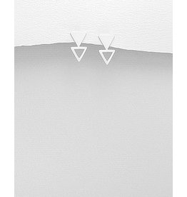 Sterling Studs- Double Triangles