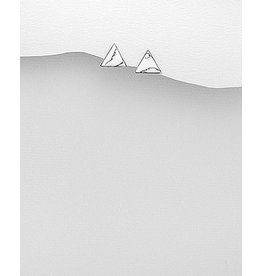 Sterling Studs- Howlite Triangle