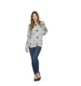 Papillon Polkadot Grey Sweatshirt