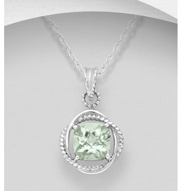 Sterling Gemstone W/CZ (More Colours)