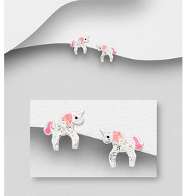 Sterling Studs-Unicorn