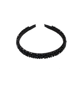 E&S Accessories Black Beaded Headband