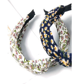 E&S Accessories Small Floral Print Knotted Headband (More Colours)