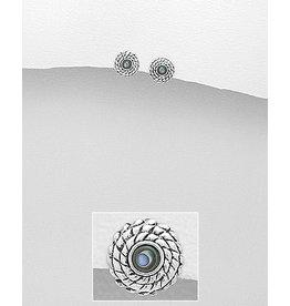 Sterling Circle W/Abalone