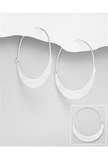 Sterling Earrings- Open Hoops