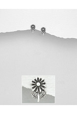 Sterling Studs- Sunflower