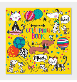Rachel Ellen Designs Dogs and Cats Colouring Book