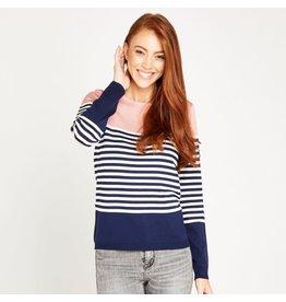 Apricot Nora Nautical Striped Sweater