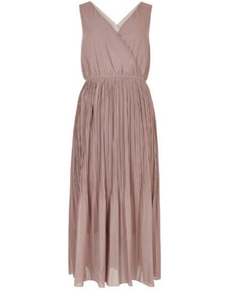 Apricot Gracie Plisse Midi Dress