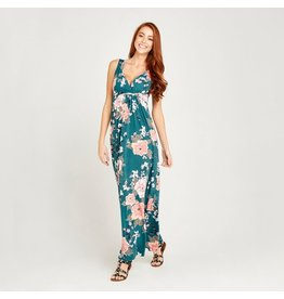 Apricot Etta Oriental Bunches Maxi Dress