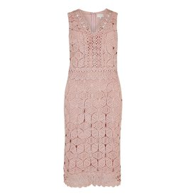 Apricot Morgan Lace Detail Dress
