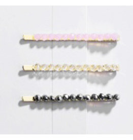 E&S Accessories Hair Clip-Beaded-set/3 (More colours)