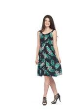 Papillon Jaxx Fern Print Button Front Dress