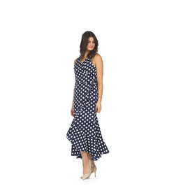 Papillon Alysa Polka Dot High Low Wrap Dress (More Colours)