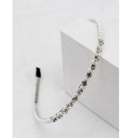 E&S Accessories Rhinestone & Pearl hairband