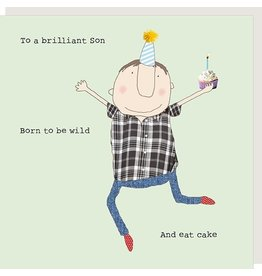 Rosie Made a Thing Born To Be Wild Son Birthday Card