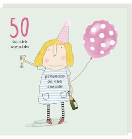 Rosie Made a Thing Card-Bday Girl 50