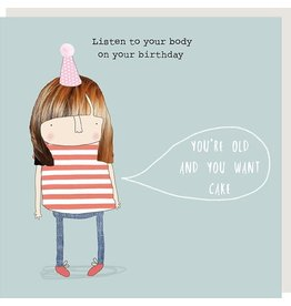 Rosie Made a Thing Card-Listen to your Body