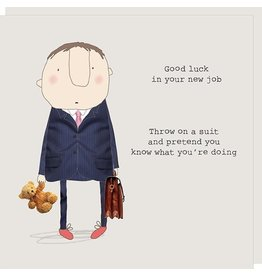 Rosie Made a Thing Card-Good Luck in Your New Job