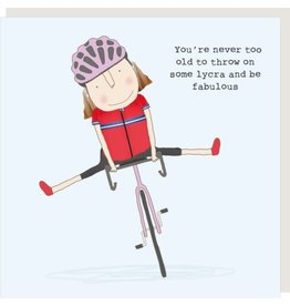 Rosie Made a Thing Card- Lycra Girl