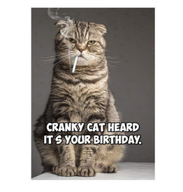 Magik Missile Card-Birthday Cranky Cat