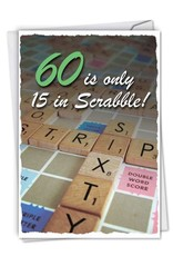 Noble Works Card- 60 is Only 15 In Scrabble