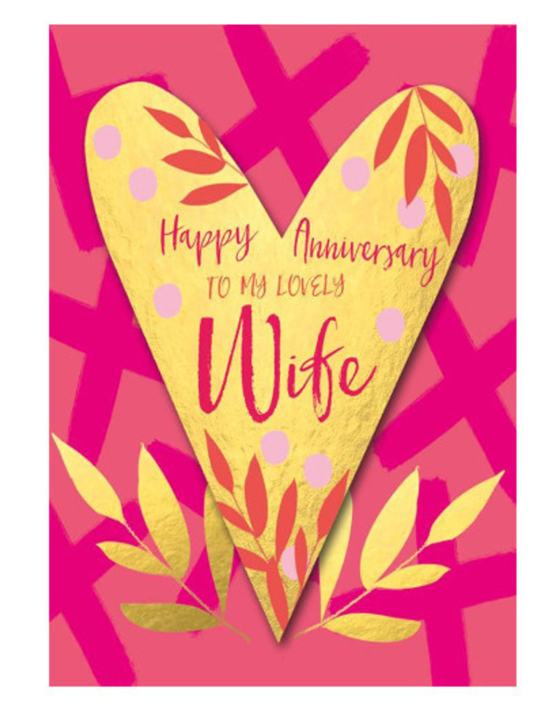 Hammond & Gower Card- Anniversary Wife