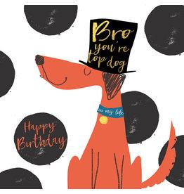 Hammond & Gower Card-Birthday Bro Top Dog