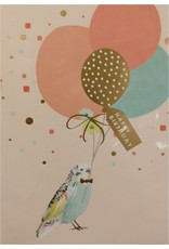 Card- Happy Birthday Bird w/ Balloons