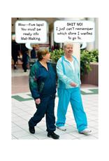 Smart Alex Mall Walking Birthday Card