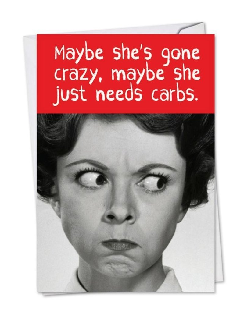 Noble Works CARD-Maybe She Has Gone Crazy