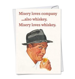 Noble Works Card- Misery Loves Whiskey