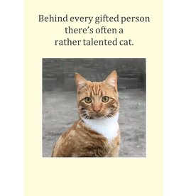 Cath Tate Cards Card-Rather Talented Cat