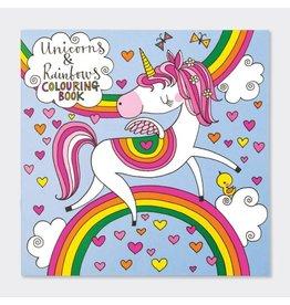 Rachel Ellen Designs Colouring Book-Unicorn & Rainbows