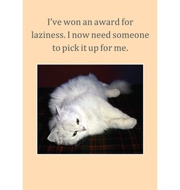 Cath Tate Cards Card-Award for Laziness