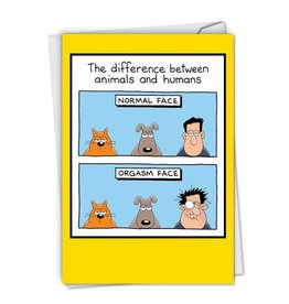 Noble Works Card Difference Animals and Humans