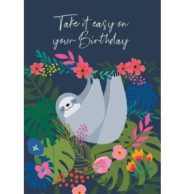 Belly Button Designs Take It Easy Birthday Card