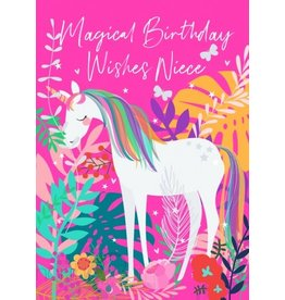Belly Button Designs Niece Birthday Unicorn Card