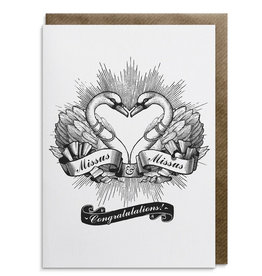 Divine Savages Card-Missus & Missus Congratulations