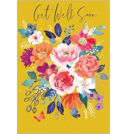 Abacus Card Ltd. Card-Get Well Soon Floral