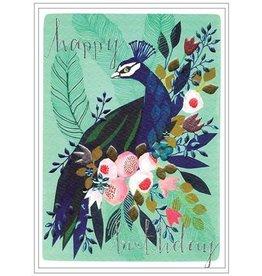 Cinnamon Aitch Card-Happy Bday Peacock