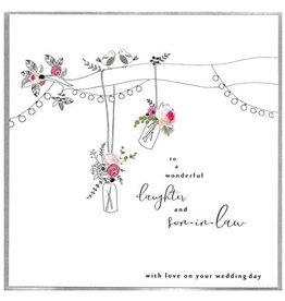 Cinnamon Aitch Card-Wedding Daughter & Son-in-law