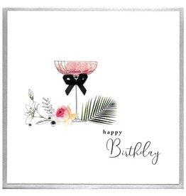 Cinnamon Aitch Card- Happy Birthday (Champagne Glass)