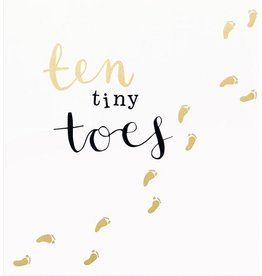 Caroline Gardner Ten Tiny Toes Baby Card