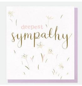 Caroline Gardner Deepest Sympathy Blank Card