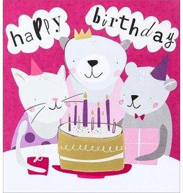 Caroline Gardner Card,Happy Birthday Cake