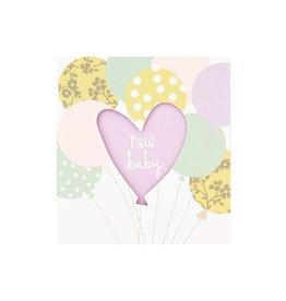 Caroline Gardner Card- new baby balloons